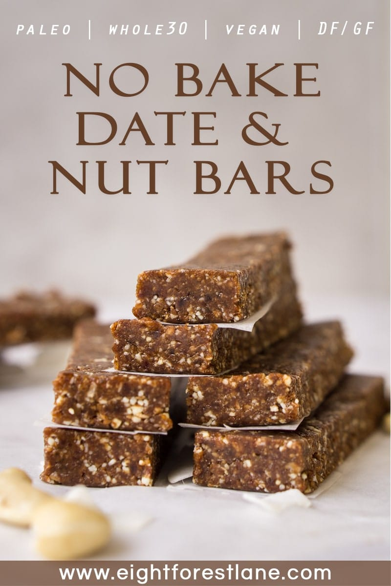 No bake date and nut bars - pinterest