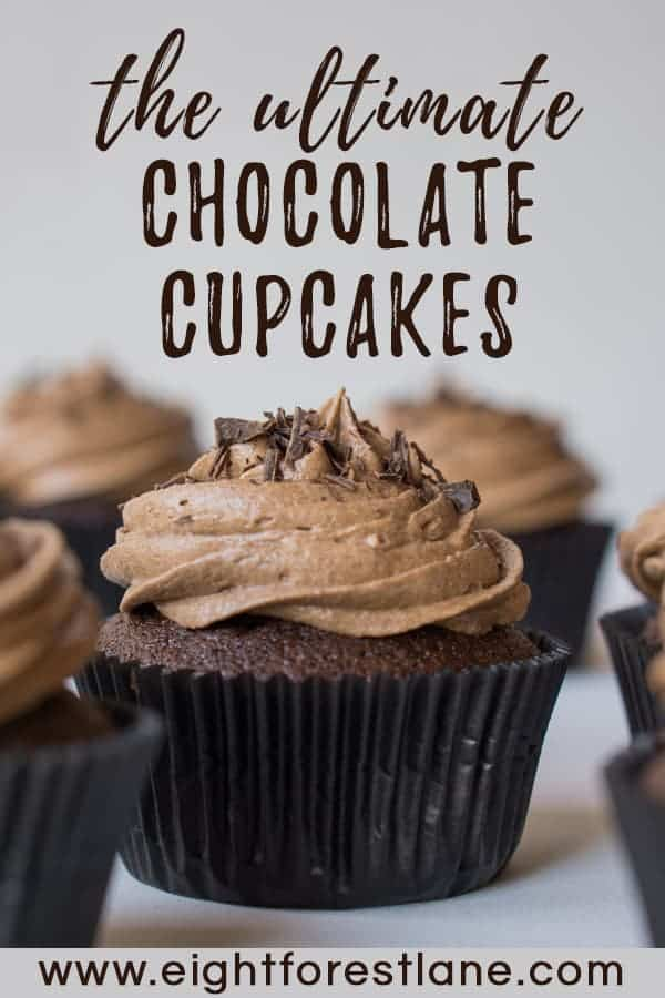 Chocolate & Coconut Cupcakes- Pinterest Image