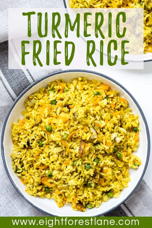 Turmeric Fried Rice - Pinterest Image