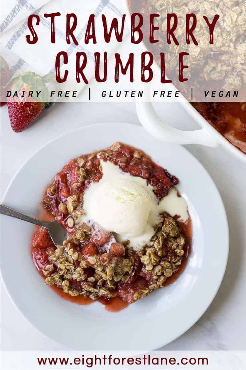 Strawberry crumble - vegan, dairy free, gluten free
