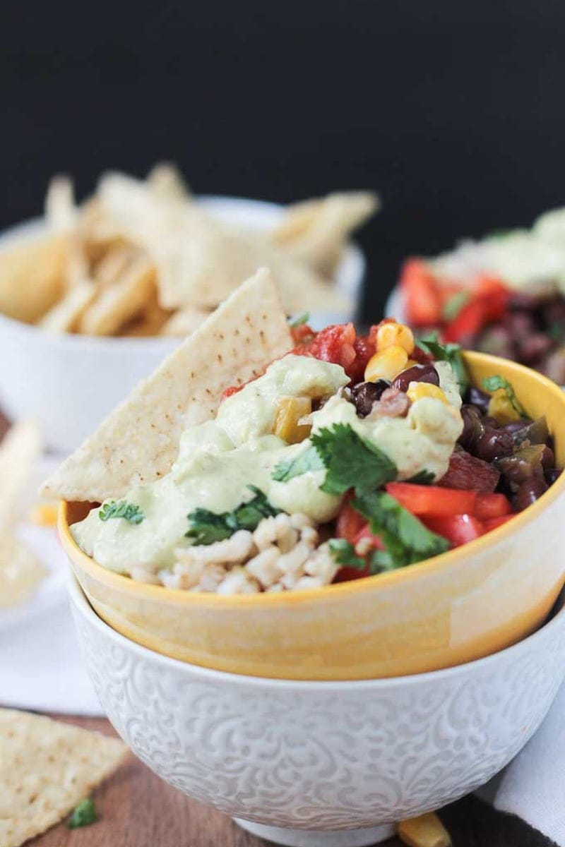 Vegan Burrito Bowl by Veggie Inspired
