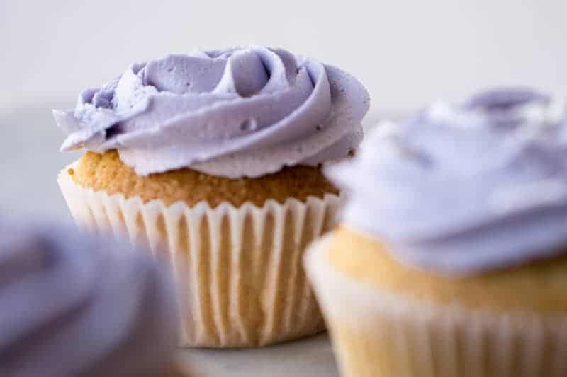 Lady Grey Cupcakes With Lavender Frosting