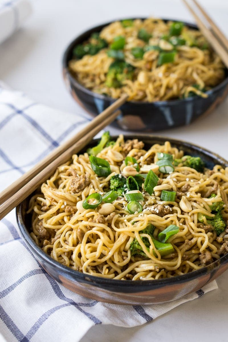 Spicy Pork and Peanut Noodles