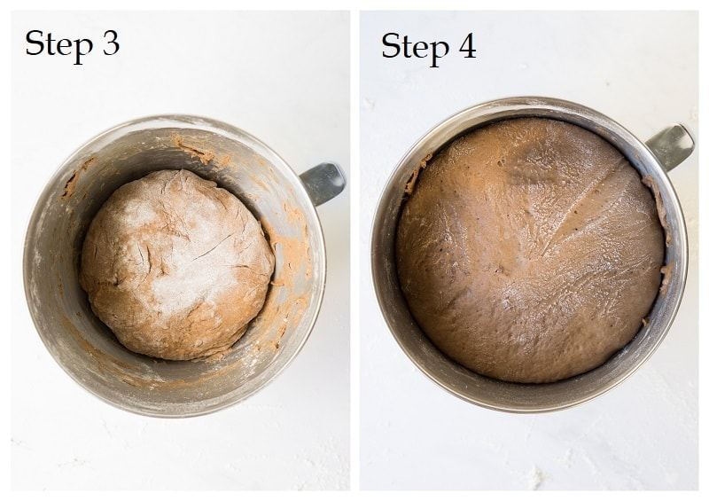 Step 3 and 4 of making hot crossed buns