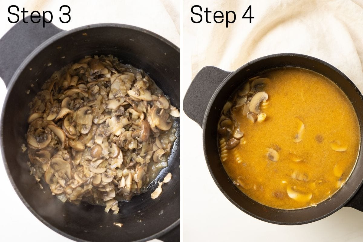 step 3 & 4 of the cooking process